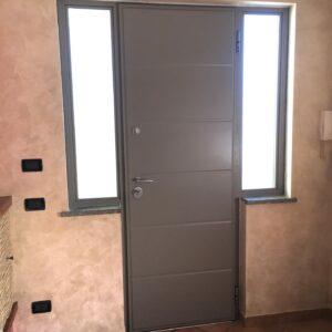 portoncino blindato da esterno con apertura lettore biometrico Argelato